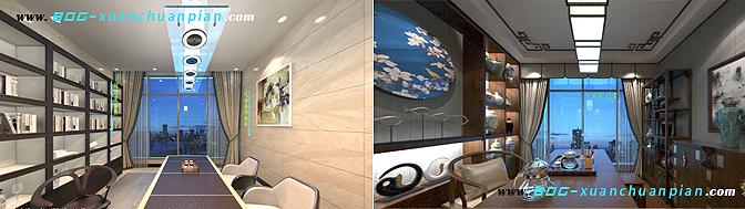 VR样板间360定点展示,精装现代与中式风格任意选
